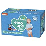 Pampers Easy Ups Pull On Disposable Potty Training Underwear for Boys, Size 5 (3T-4T), 116 Count, Enormous Pack