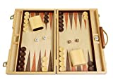 Orion Craft Walnut Wood Backgammon Set - 15' Classic Handcrafted Wooden Attache Case
