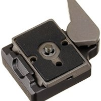 Manfrotto 323 RC2 Rapid Connect Adapter with 200PL-14 Quick Release Plate - Replaces 3299-Black