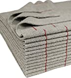 CleanAide Antimicrobial Silver Towels Edgeless Cut Red Stripe 16 X 16 in 12 Pack