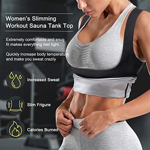 Junlan Sauna Suit for Women Sweat Workout Tank Tops Heat Trapping Vest Slimming Polymer Sauna Vest 3