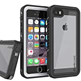 Punkcase Waterproof Case [Extreme Series] [Slim Fit] [IP68 Certified] [Shockproof] [Snowproof] Armor Cover W/Built in Screen Protector Compatible W/Apple iPhone 5 & Apple iPhone 5s (White)