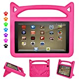 Fire HD 8 Tablet Case,Fire HD 8 Case-Dinines Light Weight Shock Proof Handle Kid Proof Cover Kids Case for Fire HD 8 Tablet(8th/7th/6th Generation,2018/2017/2016 Realease) Pink