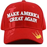 The Hat Depot Exclusive 45th President Trump Make America Great Again 3D Cap (Red-Flag)