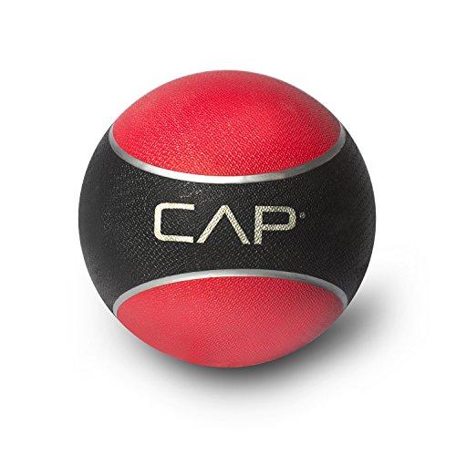 CAP Rubber Medicine Ball, 10-Pound, Red