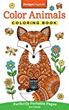 Color Animals Coloring Book: Perfectly Portable Pages (On-the-Go! Coloring Book) (Design Originals) Extra-Thick High-Quality Perforated Pages in Convenient 5x8 Size Easy to Take Along Everywhere
