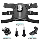Kourpar Dog Harness Chest Strap Adjustable Fetch Mounting GoPro Hero 7 Hero 6/ Hero 5/5 Session/ 4 Session/Hero 4/ Hero 3+/ 3/2/ 3, Xiaoyi Other Action Cameras