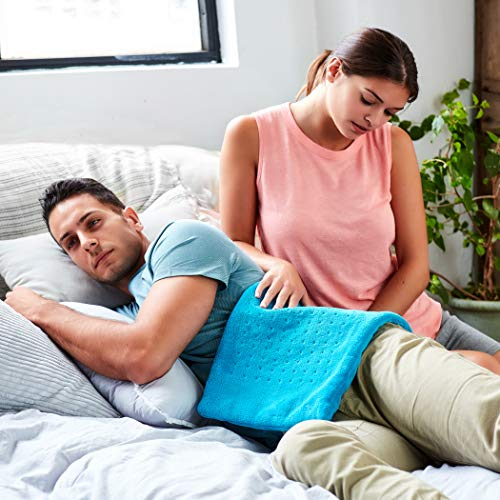 MIGHTY BLISSTM Massive Electrical Heating Pad for Again Ache and Cramps Aid -Further Massive [12″x24″] – Auto Shut Off – Warmth Pad with Moist & Dry Warmth Remedy Choices – Sizzling Heated Pad deal 50% off 51KmZozTG0L