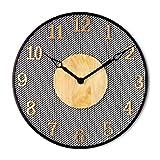 SJY Round Big Wall Clock,Vintage Wall clockHome Decor Wall clockRestaurant Living Room Wall clockSilent Wall clockPlastic Wall Clock,A
