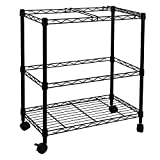 Product review for Oceanstar Portable 2-Tier Metal Rolling File Cart, Black