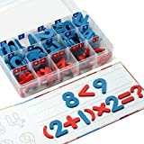 Gamenote Classroom Magnetic Numbers and Operations Kit with Magnet Board - Foam Number Magnets for Kids and Teachers(120 pcs in Box)