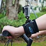 TELESIN 360 Degree Rotary Arm Hand Wrist Strap with J Hook Rotation Mount for Gopro 2018/Hero3/3+/4,Hero4 Session,Hero5/6 Black,Hero5 Session,Osmo Action