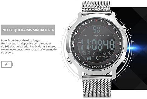 51KtnsXYrEL. AC  - Redlemon Smartwatch Reloj Inteligente Sport con Pantalla Digital, Resistente al Agua, Notificaciones de Llamadas, Redes Sociales y Mensajería, Funciones Deportivas, Podómetro, Hasta 6 Meses de Batería #Amazon