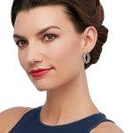 Women wearing hoop earrings