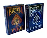 Bicycle Stargazer & Fire Elements Series Playing Cards Bundle, 2 Decks (Basic pack)