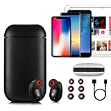 Wireless Earbuds, 2018 Upgraded Version Wireless Headphones Bluetooth Earbuds Sports Headphones with Mic and Charging Case (Can Also be Used as Power Bank) for iPhone and Android Smart Phones (Black)