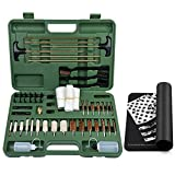 IUNIO Universal Gun Cleaning Kit with Mat Carrying Case for Rifle Pistol Handgun Shotgun Hunting Shooting All Caliber (All-in-One Standard)