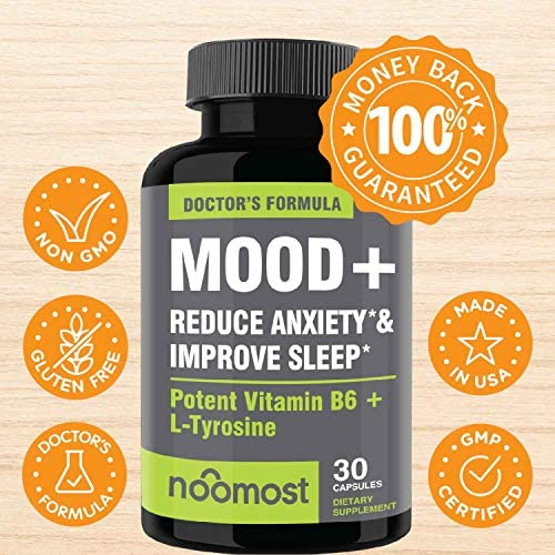 Mood Support - Anxiety Relief Supplement Mood Boosts, Reduces Stress Relief & Depression - L Tyrosine, Ashwagandha, 5 HTP, Passion Flower, L Theanine, GABA, Valerian Root, Rhodiola Rosea by NooMost 4