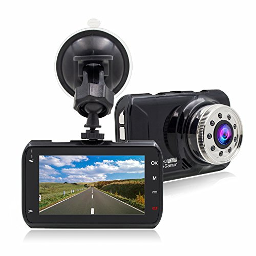 Car Dvr Dash Cam with Night Vision , FHD 1080P, G-Sensor, WDR, Loop Recording, Wide Angle for Drivers