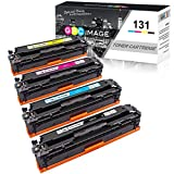GPC Image Compatible Toner Cartridge Replacement for Canon 131 131H Toner to use with ImageClass MF8280Cw LBP7110Cw MF628Cw MF624Cw MF8280 Color Laser Printer (Black, Cyan, Magenta, Yellow, 4 Pack)
