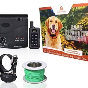 Wireless Combo Electric Dog Fence System with Remote Dog Training Collar by PetControlHQ, Containment System, Waterproof, Rechargeable Dog Shock Collar & Invisible Wire Fence