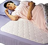 Priva High Quality Ultra Waterproof Sheet and Mattress Pad Protector 34' x76',  9 Cups Absorbency, Guaranteed 300 Machine Washes