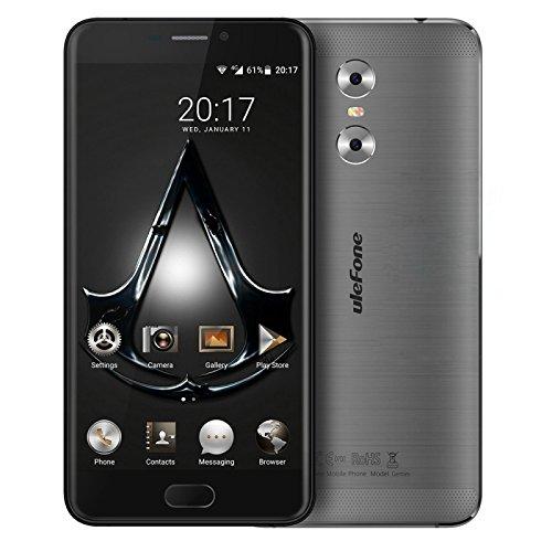 Ulefone Gemini 3GB + 32GB Dual Rear Cameras 5.5 Inch Android 6.0 MTK6737T Quad Core up to 1.5GHz WCDMA & GSM & FDD-LTE (Grey)