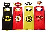 Rubie's - Set de superhéroes con licencia oficial de DC Comics, surtido (4 piezas), unisex, con máscaras y diademas, talla pequeña para niños