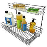 Lynk Professional Sink Cabinet Organizer Pull Out Two Tier Sliding Shelf, 11.5w x 18d x 14h -Inch, Chrome
