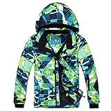 PHIBEE Big Boy's Waterproof Breathable Snowboard Ski Jacket (Print, 6)
