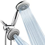 DreamSpa Luxury 36 Setting Large Showerhead and Hand-Shower Dual 3-Way-Combo by Top Brand Manufacturer (Fixed and Handheld Shower-Heads, Water-Diverter, Extra Long 6 ft Stainless Steel Shower-Hose)