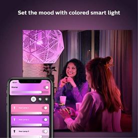 Philips-Hue-White-and-Color-LED-Smart-Button-Starter-Kit-3-A19-Smart-Bulbs-1-Smart-Button-1-Hue-Hub-Works-with-Alexa-Apple-HomeKit-Google-Assistant