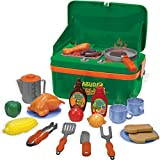 Nature Bound BBQ Grill Cookout Camp Stove with Sizzling Lights & Sounds, Play Utensils, & Play Food