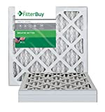 FilterBuy 14x18x1 MERV 8 Pleated AC Furnace Air Filter, (Pack of 4 Filters), 14x18x1 - Silver