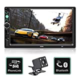 Double Din Car Stereo 7 Inch Touch Screen Car MP5 Player Support Backup Rear View Camera FM Radio Car Audio with Hands-Free Mirror Link