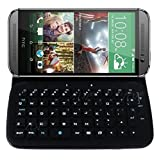 TOP® for HTC One M9 Shock Proof PU Leather Case with Bluetooth V4.0 Chipset Wireless Keyboard, More Fast and Stable Connecting, HTC One M9 Portfolio Case, HTC One M9 Detachable/Removable Keyboard Case, Flip Keyboard Case for HTC One M9. (2018 Released)