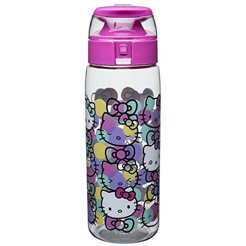 Zak Designs HLOC-K952 Sanrio Water Bottles, Tritan, Hello Kitty