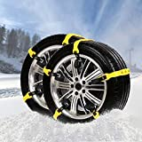 VaygWay Car Tire Snow Chains-Anti Slip Emergency All Season-Anti Snow Cables Car SUV- Universal Mud Security Tire Chains-10 Piece Vehicle