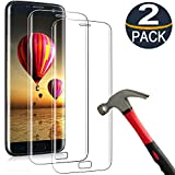 [2 Pack] Samsung Galaxy S6 Edge Screen Protector Temperd Glass 3D Curved Full Coverage HD Clear 9H Anti-Scratch Tempered Glass Screen Protector Film for Samsung Galaxy s6 Edge