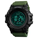 Men's Outdoor Survival Sport Fan Watch Weather Compass Pressure Mileage Calories Waterproof Watch
