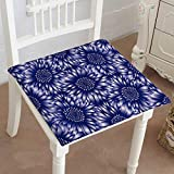 Mikihome Dining Chair Pad Cushion Vector Background Wallpaper with Blue d Fashions Indoor/Outdoor Bistro Chair Cushion 16'x16'x2pcs