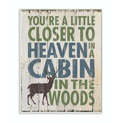 Cabin Wall Plaque Art