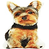 Pure Ponta Yorkie Shaped Animal Pillow | Yorkie Stuffed Dog Pillows for Kids and Yorkie Lovers | 16 Inch Yorkshire Terrier Decorative Throw Pillow