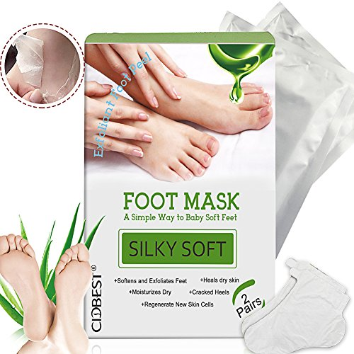 Vassoul foot peel mask exfoliating calluses and dead skin remover exfoliating foot peel mask foot mask exfoliating mask peeling away dry dead skin callus remover repair rough heels silky soft baby your feet ccuart Gallery