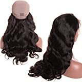 Brazilian Body Wave Lace Front Wigs Glueless Brazilian Virgin Human Hair Wigs Pre Plucked Natural with Baby Hair for Black Women 22 inch