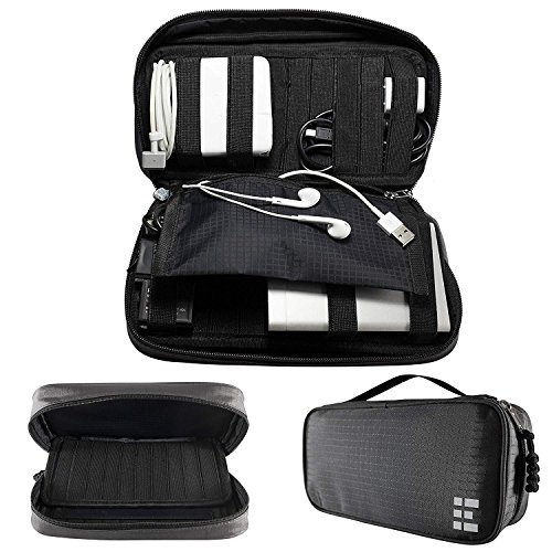 Zero Grid Electronics Travel Organizer - Cord, Cable, and Accessories Case, Shadow