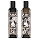 Best Deal Beard Wash & Beard Conditioner Set w/Argan & Jojoba Oils - Softens & Strengthens - Natural Peppermint and Eucalyptus Scent - Beard Shampoo w/Beard Oil (5 oz)