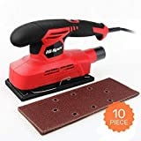 Hi-Spec 150W Power 1.3A Finishing Sander & 10pc Sanding Pad Kit Great for Finishing, Smoothing & Sanding Down Wood, Removing Paint, Varnish, Stains & Polishing