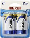 Maxell 723020 Alkaline Battery D Cell 2-Pack