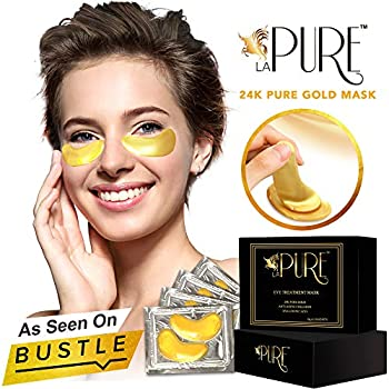 LA PURE Amazing Anti-Aging 24K Gold Collagen Depuffing/Cooling Under Eye Mask for Men and Women You have a big day tomorrow... a make it or break it kind of day. The problem is that you've had nothing but terrible sleep. Last week it was...